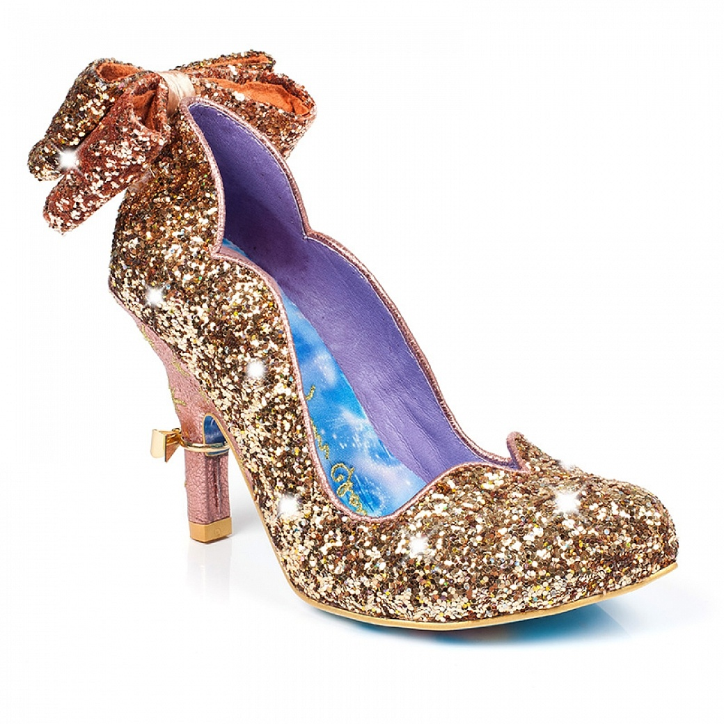 Gold Cinderella Shoes from Irregular Choice