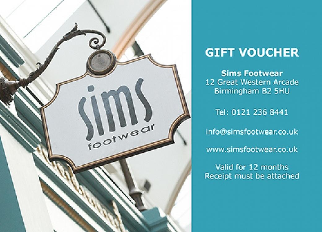 Sims Footwear Gift Voucher