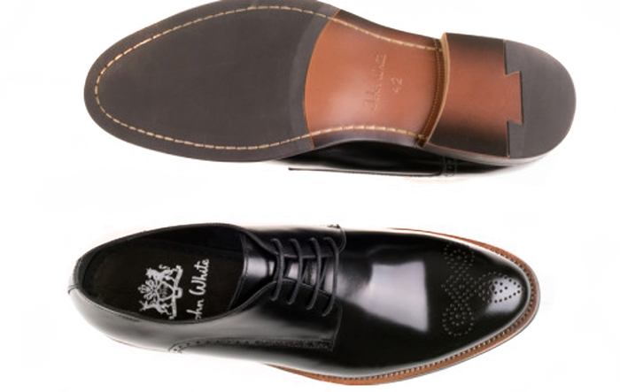 john white churchill leather shoe